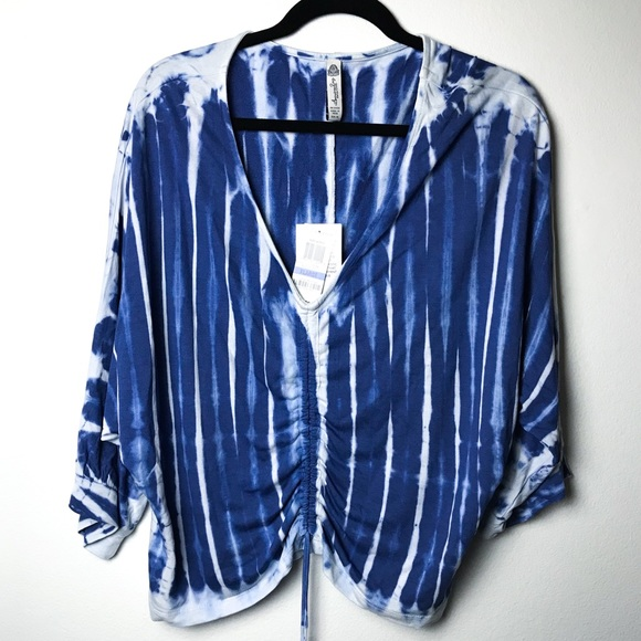 American Rag Tops - American Rag Cie Boho Tye Dye Shirt blue white